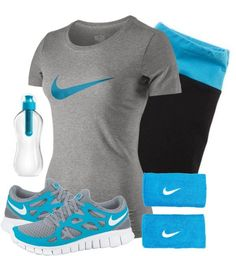 """Running Resolution"" by qtpiekelso on Polyvore. If I had this outfit then I would go running all the time!!! Super Cute"