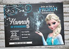 Frozen Birthday Party Invitation Printable With Free Matching Thank YOU Card | eBay