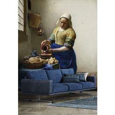 Vlies fotobehang Het Melkmeisje #vermeer