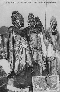 Africa | Women from Toucouleurs. Senegal | Scanned old postcard