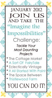 """""""imagine the impossibilities"""" mark your calendars for our January 31, 2012 link party extravaganza!"""