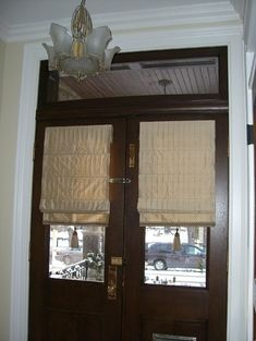 Curtains Drapes And Blinds For A Glass Front Door Window