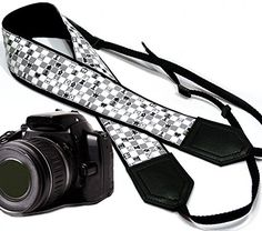 Chess camera strap. Modern DSLR / SLR Camera Strap. Black and white camera strap. Durable, light weight and well padded camera strap. code 00097 *** Continue to the product at the image link. (This is an Amazon Affiliate link and I receive a commission for the sales)