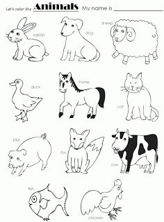 dibujos de presentacion en ingles para nios para colorear