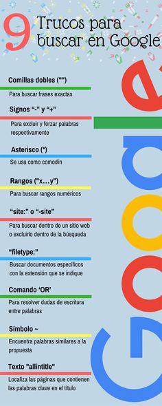 9 trucos para buscar en Google