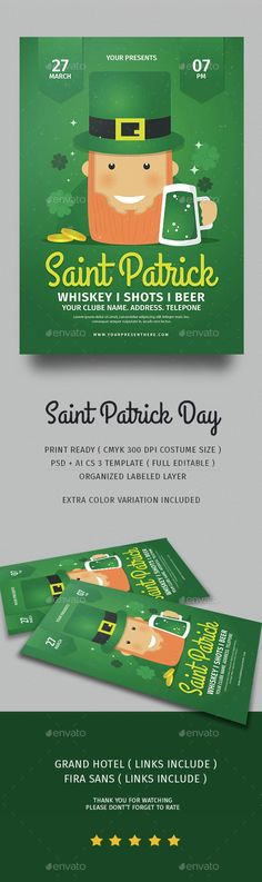St PatrickS Day Poster Flyer Or Ad  Newspaper Advertisement