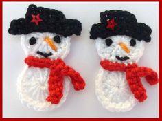 Christmas crochet appliques 2 handmade by MyfanwysAppliques, £3.00