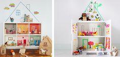 Ideas sencillas para construir una casa de muñecas - http://www.decoora.com/ideas-sencillas-para-construir-una-casa-de-munecas.html