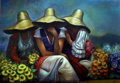 Risultati immagini per cuadros de las chismositas Artist Painting, Figure Painting, Pictures To Paint, Art Pictures, Mexican Pictures, Arte Latina, Mexican Paintings, Peruvian Art, Mexico Art