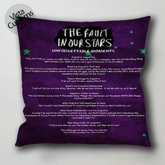 The Fault in Our Stars quotes pillow case, cushion cover ( 1 or 2 Side Print With Size 16, 18, 20, 26, 30, 36 inch )