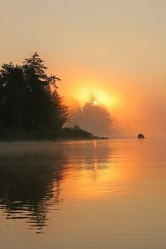#sunrise on Lake One in the Boundary Waters Wilderness #Minnesota