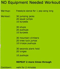 Circuit work using your own body weight