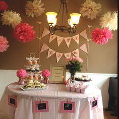 baby shower niña decoracion - Buscar con Google