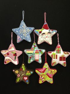 Wonderful Needlepoint Stars by Raymond Crawford! The French Knot in Fort Worth has great stitch guides and I love how they are finished! www.thefrenchknot.com