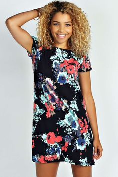 Carley Floral Print Shift Dress alternative image