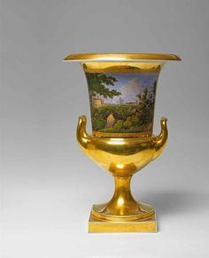 KPM Porcelain Scenic Vase, 1820.
