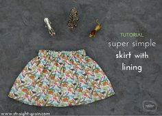 A few years ago, I posted a very simple tutorial for making a super quick gathered skirt with lining. I made several of these simple skirts since, but the underlit pictures in the tutorial kept bot…