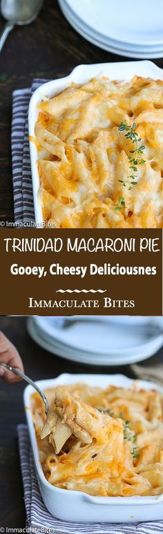 Trinidad Macaroni Pie- Baked mac and cheese- the Caribbean Way – with tons of flavor.Comfort food never tasted so good!
