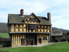 Gatehouse at Stokesay Castle, Shropshire, England.