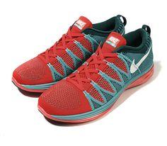 Nike Flyknit Lunar2-Bright Crimson-Sport Turquoise