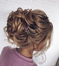 Bridal updo hairstyles,hairstyles,updos ,wedding hairstyle ideas,updo hairstyles… – My CMS Messy Wedding Updo, Bridal Hair Updo, Wedding Hair And Makeup, Messy Updo, Bridal Bun, Unique Wedding Hairstyles, Bride Hairstyles, Hairstyle Ideas, Updo Hairstyle