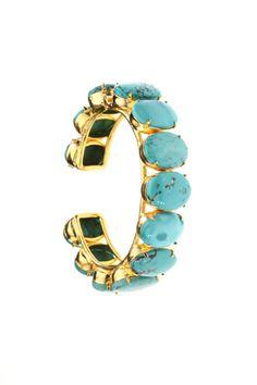 Turquoise bling bangle