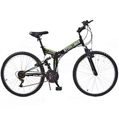 Mountain Bikes - Stowabike 26 MTB V2 Folding Dual Suspension 18 Speed Gears Mountain Bike Black * Details can be found by clicking on the image.