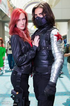 Black Widow and Winter Soldier (Captain America) #Cosplay from San Diego Comic Con 2014 Day 4 www.facebook.com/MannyLlanuraPhoto