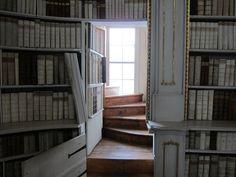 Hidden door in the Admont Abbey library in Austria - Imgur