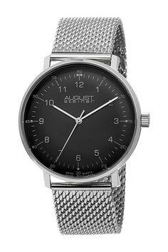 August Steiner Men's Classic Mesh Swiss Quartz Watch by TWI Watches on @HauteLook