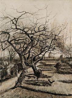 Vincent van Gogh, Winter Garden in Neuen, 1884 his parents were living in Neuen at this time.