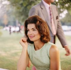 Jacqueline Kennedy at family picnic; c. 1960s.