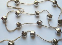 diy jingle bell garland how easy and cheap dollar store bells