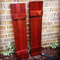 DIY cedar shutters.