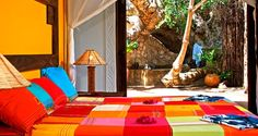 Comprising 26 airy rooms, #Fumba #Beach #Lodge has 20 deluxe bandas with en-suite bathrooms, secluded terraces, ocean views and large beds. Four luxury rooms have an additional private roof terrace and outdoor shower. For the ultimate indulgence, you can stay in one of two beautiful 'Baobab' rooms supported in the branches of a 300 year old baobab tree. Both have open-air bathrooms and easy access to the beach. #Africa #Safari