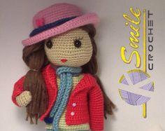 Crochet doll crochet girl amigurumi girl The Zizidora | Etsy