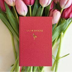 La Vie en Rose Notebook - by Sloane Stationery #MONOQI