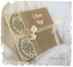 Gastebuch Vintage Mit Spitze Und Rosen Sweetwedding