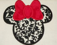 Mouse Ears With Bow Applique Machine Embroidery Design - 2 Sizes
