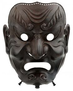 Full-face mask (sōmen) Edo period, 1710. Iron. Photograph by Brad Flowers. © The Ann and Gabriel Barbier-Mueller Museum, Dallas