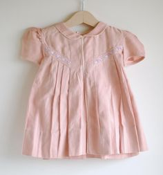 Vintage 1940's Toddler Girl Dress  Pink CHICKS by hartandsew, $36.00