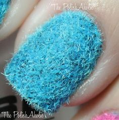 The PolishAholic: Flocking powder nails - what do you think?  I think the texture would drive me crazy!