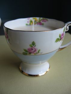 Baby Shower Teacup Candle Vintage Rose by Blue Thistle Paperie on Etsy $10.  For details, please visit https://www.etsy.com/listing/450992102/baby-shower-teacup-candle-vintage-rose?ref=shop_home_active_1