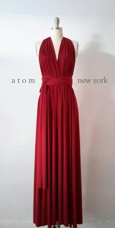 Plancher LONG rouge rubis longueur robe de bal Infinity robe