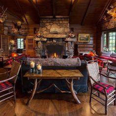 Blockhaus Amazing Western And Rustic Home Decoration Ideas Log Home Interiors, Rustic Interiors, Cabin Furniture, Rustic Furniture, Western Furniture, Family Furniture, Luxury Furniture, Furniture Design, Barndominium