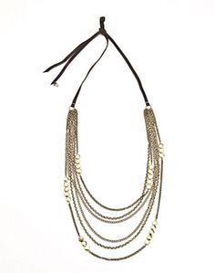Gold Multi Layered Necklace  ITEM #LBA01740  /  STYLE JLRU65