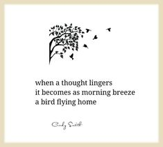 haiku~ flying  home Cindy Smith