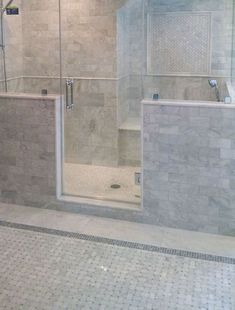 Master bathroom marble tile subway tile bathroom subway tiles marble tile contemporary master bathroom with white Carrara Marble Bathroom, Marble Subway Tiles, Bathroom Remodel Cost, Bathroom Renovations, Modern Bathroom, Master Bathroom, White Bathrooms, Master Shower, Large Bathrooms