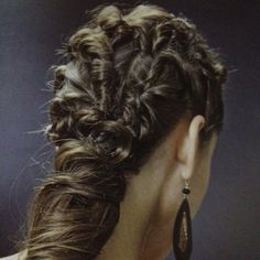 Fine Braided Crown Of Rings Side View Eric Mayost Braided Hairstyle Inspiration Daily Dogsangcom