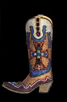 Paradise swarovski bling cowgirl boots ..I would never be able to wear these outside of the house!